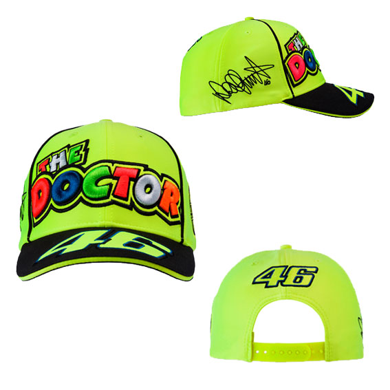 VALENTINO ROSSI ADULTS THE DOCTOR 46 CAP YELLOW