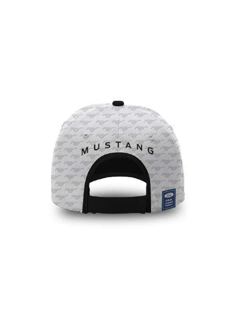 FM20H-468_FORD_MUSTANG_ADULTS_EMBOSSED_CAP_WHITE_BACK