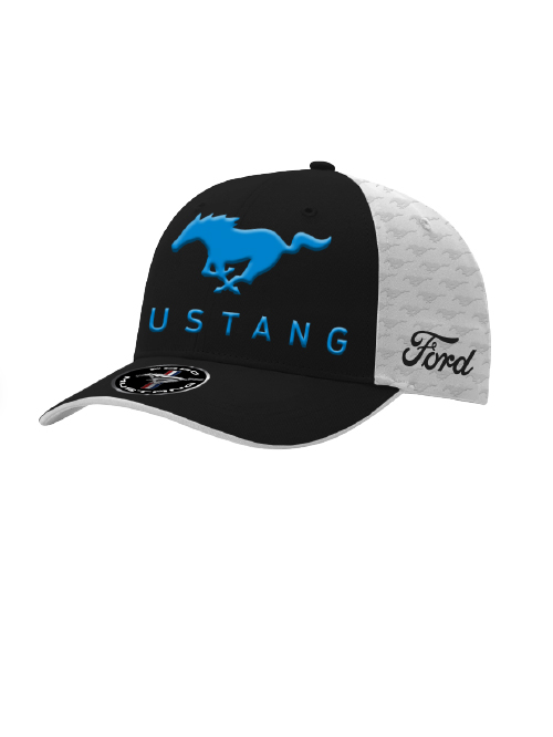 FM20H-468_FORD_MUSTANG_ADULTS_EMBOSSED_CAP_WHITE_FRONT
