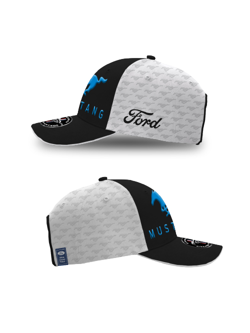 FM20H-468_FORD_MUSTANG_ADULTS_EMBOSSED_CAP_WHITE_SIDES