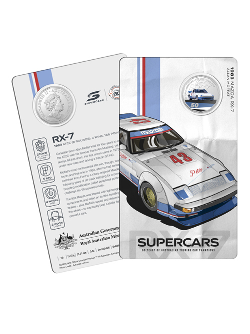 10502-60YRS-SUPERCARS-COIN-COLLECTION-1983-MAZDA-RX7