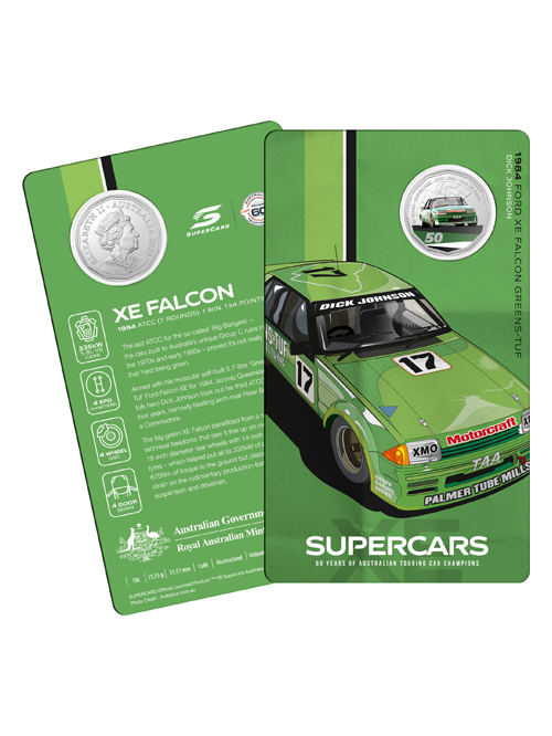 10502-60YRS-SUPERCARS-COIN-COLLECTION-1984-FORD-XE-FALCON