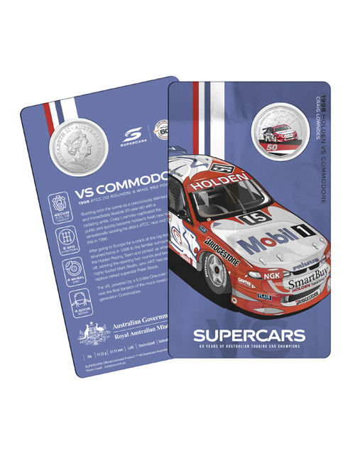 10502-60YRS-SUPERCARS-COIN-COLLECTION-1998-HOLDEN-VS-LOWNDES