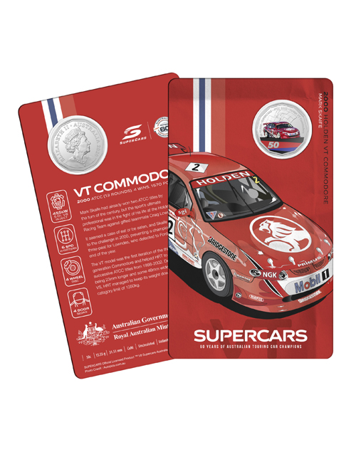 10502-60YRS-SUPERCARS-COIN-COLLECTION-2000-HOLDEN-VT-SKAIFE