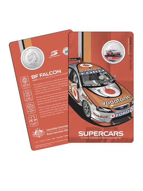 10502-60YRS-SUPERCARS-COIN-COLLECTION-2008-FORD-BF-FALCON
